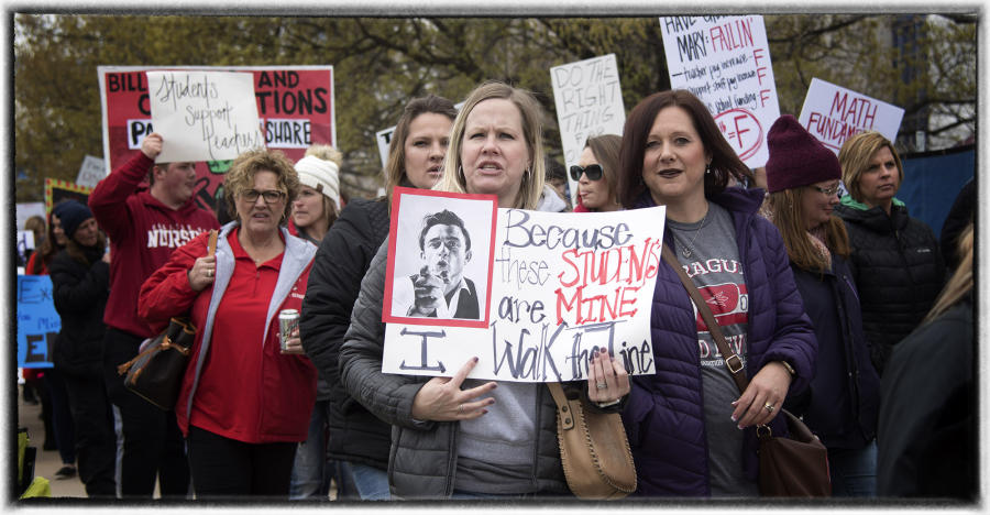 Oklahoma teachers are some of the lowest paid.  : The Teachers' Strike Sessions : Oklahoma City Editorial and Documentary Photographer