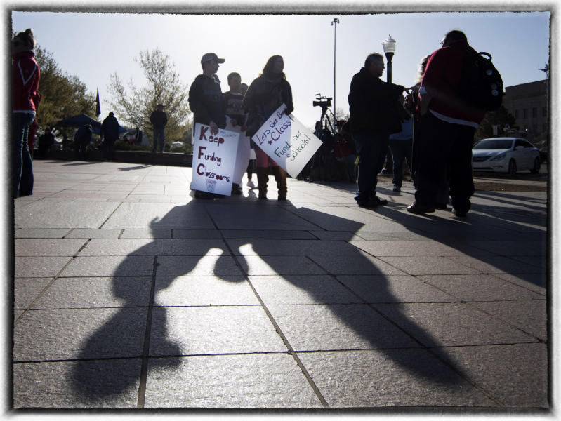 Teachers asked for more than $800 million in new funding, including a $10,000 raise and $200 million in additional funding.  : The Teachers' Strike Sessions : Oklahoma City Editorial and Documentary Photographer