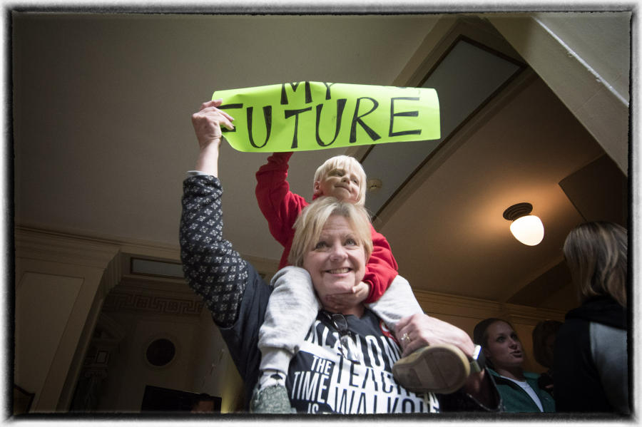 That bill was strongly opposed by the GOP lawmakers.  : The Teachers' Strike Sessions : Oklahoma City Editorial and Documentary Photographer