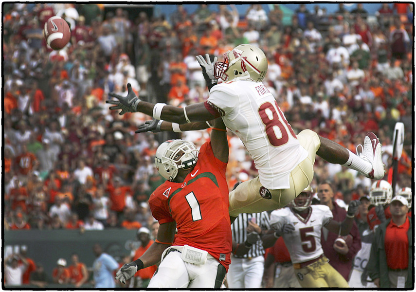 FSU & UM football players battle for the ball.  : The Sports Sessions : Oklahoma City Editorial and Documentary Photographer