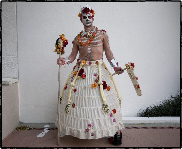"""I dress this way, for my friend, Mary, who committed suicide"". : Dia de los Muertos  : Oklahoma City Editorial and Documentary Photographer"
