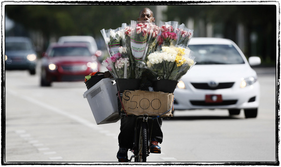 Flower salesman : The Street Sessions : Oklahoma City Editorial and Documentary Photographer