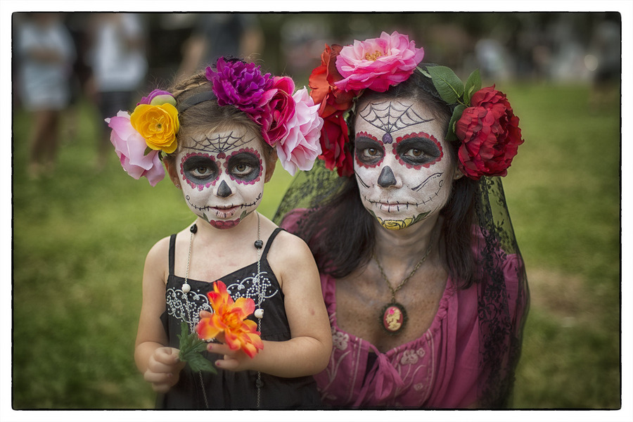 ....allowing the spirits of children (angelicas) to be reunited with their families.... : Dia de los Muertos  : Oklahoma City Editorial and Documentary Photographer