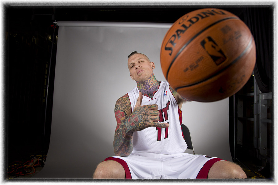 Miami Heat's Chris Andersen. : The Sports Sessions : Oklahoma City Editorial and Documentary Photographer