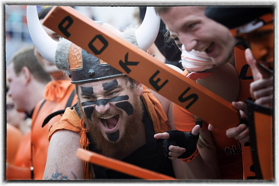 Oklahoma State football fan : The Sports Sessions : Oklahoma City Editorial and Documentary Photographer