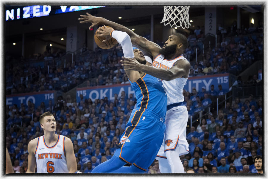 New York Knicks verse Oklahoma City Thunder action  : The Sports Sessions : Oklahoma City Editorial and Documentary Photographer