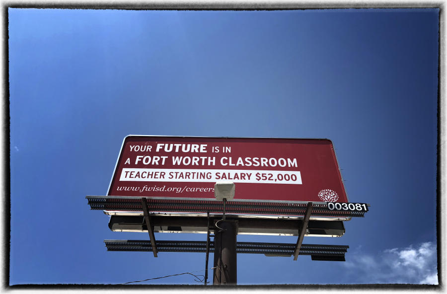 Teachers in Oklahoma earn $42,400 annually, while the national average is $61,420.  : The Teachers' Strike Sessions : Oklahoma City Editorial and Documentary Photographer