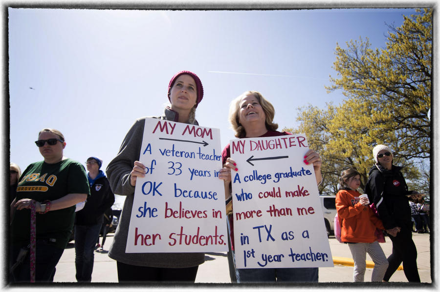 Teachers said they wanted to be treated with respect and as a professional.  : The Teachers' Strike Sessions : Oklahoma City Editorial and Documentary Photographer