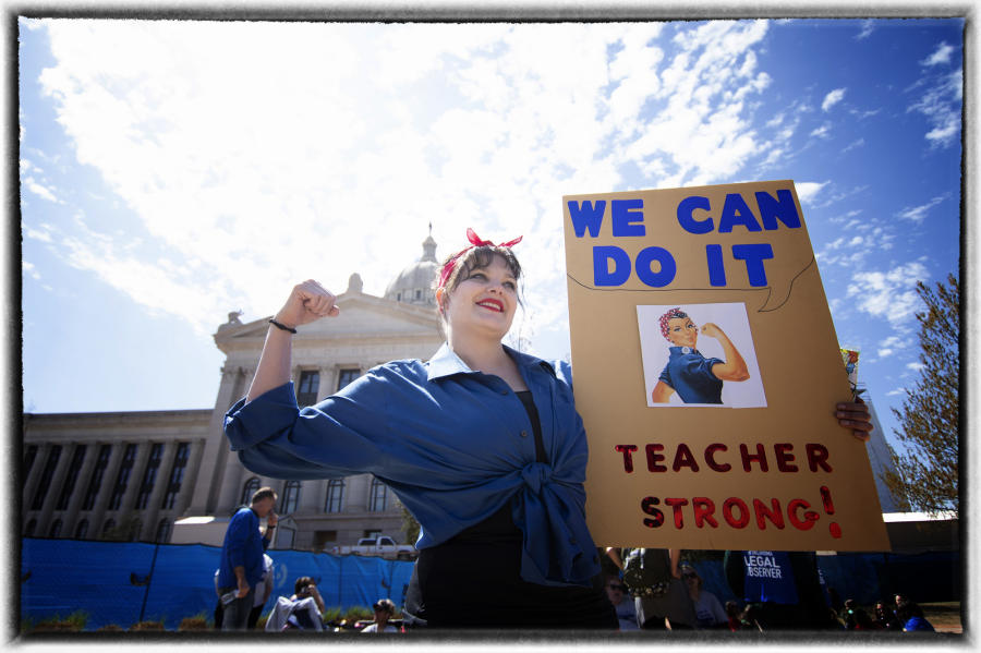 "One republican lawmaker reported ""my colleagues have made a good effort to address the pay raise issue but there are 72 other state agencies have needs that must be addressed"". : The Teachers' Strike Sessions : Oklahoma City Editorial and Documentary Photographer"