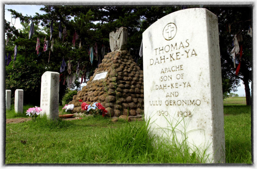 Geronimo's grave at Fort Sill, Oklahoma. : Native Son : Oklahoma City Editorial and Documentary Photographer