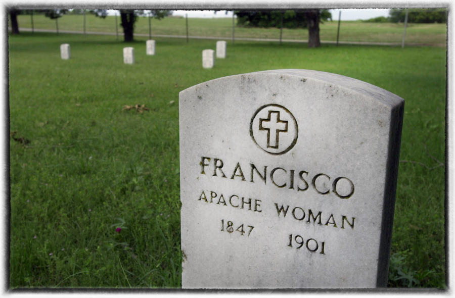 Apache prisoner-of-war graves at Fort Sill, Oklahoma. : Native Son : Oklahoma City Editorial and Documentary Photographer