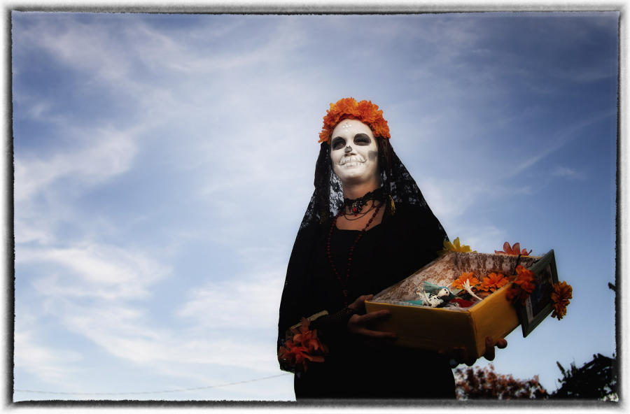 During the holiday, families clean and decorate the graves. : Dia de los Muertos  : Oklahoma City Editorial and Documentary Photographer