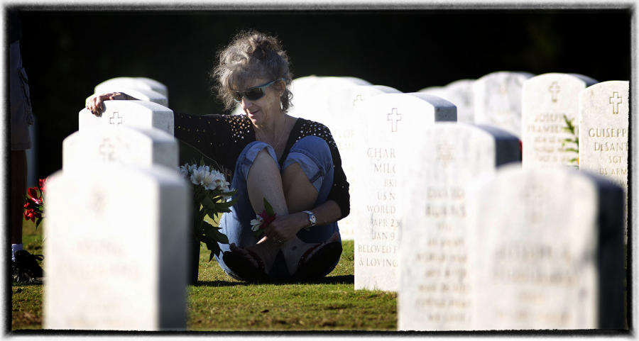 While healing can be rewarding.  : Memorial Day : Oklahoma City Editorial and Documentary Photographer